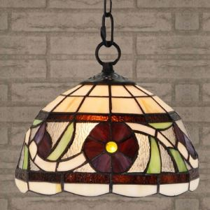 10 Inch Wide Dinning Room Tiffany Hanging Pendant Light in Country Style