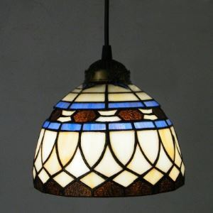 Mini Bowl Shade Hanging Pendant Lighting 8 Inch in Tiffany Style