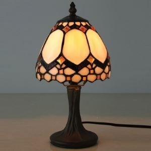 6 Inch Bell Shade Mini Desk Lamp in Tiffany Stained Glass Style