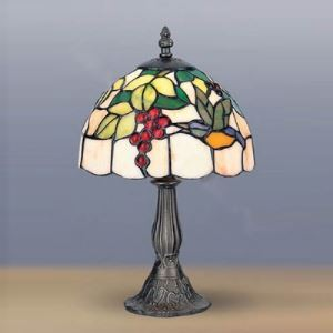 Mini Desk Lamp 8 Inch Wide Tiffany Table Lamp with Bird Pattern