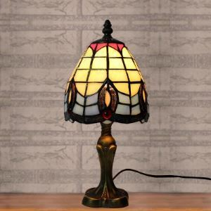 Bell Shade Baroque Style Design 5 Inch Mini Bedside Desk Lamp in Tiffany Style