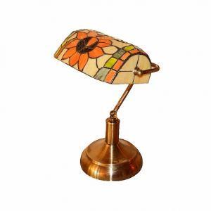 Enchanting Single Light Tiffany Lamp Embracing Delightful Sunflower Glass Shade