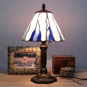 16 Inches Cone Shade Tiffany Table Lamp For Bedroom/Office