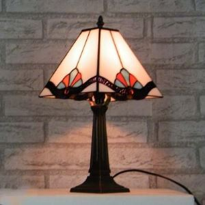 Beside Table Lamp 10 Inch Mini Size in Tiffany Stained Glass Style