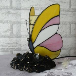 Butterfly Design 5 Inch Mini Night Light for Kids in Tiffany Style