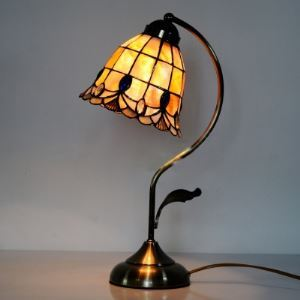 Cute Tiffany Desk Lamp for Kids with Leaf Decoration