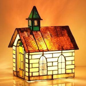 Lovely Kids Room Stained Glass 10 Inch Tiffany Mini Night Table Lamp