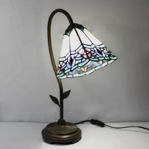 Leaf Accent 8 Inch Downlight Table Lamp in Tiffany Style
