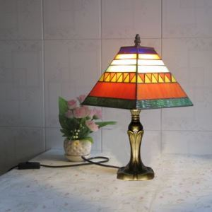 Study Room Fitted Resin Base 8 Inches Tiffany Table Lamp