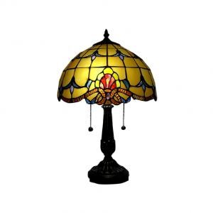 Dual Chain Pulls Tiffany Table Lamp in Baroque European Style