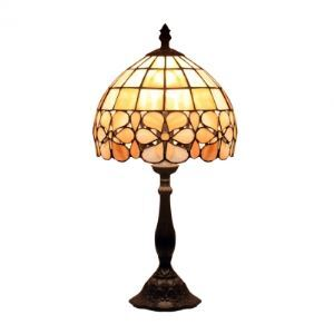 One Light Tiffany Kids Room Bedroom Shell Shade Table Lamp