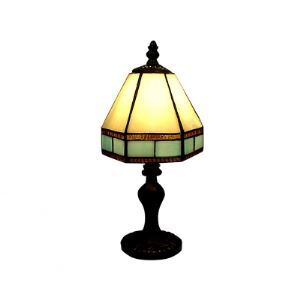 Fashionable Geometric Tiffany Table Lamps with Antique Brass Finished Resin Base