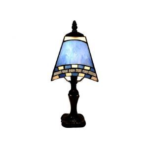 Elegant Tiffany Table Lamp Fixture with Sea Blue and Mosaic Décor Shape