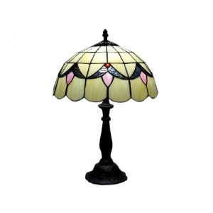 "Cute One Light Tiffany Lamp Features 12"" Wide by 18"" High"