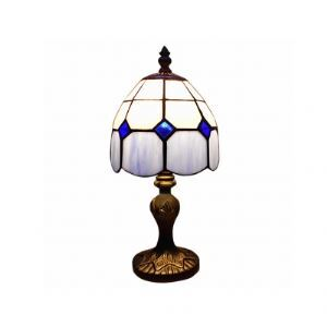 Stylish Tiffany Table Lamp with Stunning Antique Brass Resin Frame