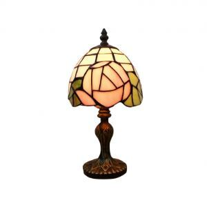 Romantic Rose Tiffany Table Lamp Fixture with Imperial Elegant Base