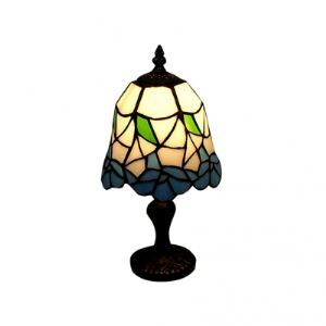 Stylish Tiffany Table Lamp with Geometric and Colorful Pieces Glass