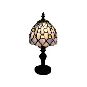Sharking Glass Balls Tiffany Table Lamp Fixture with Reticular Steel Shape Frame