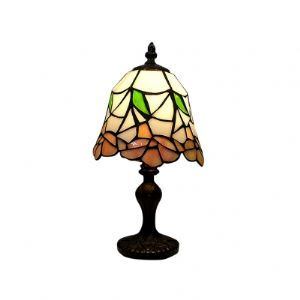 Fashionable Tiffany Table Lamp Fixture with Geometric and Colorful Pieces Glass