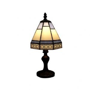 Ornate Classic Tiffany Table Lamp Fixture with Imperial Antique Brass Base