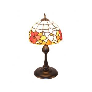Beautiful Flower Pattern Tiffany Dome Glass Shade Table Lamp