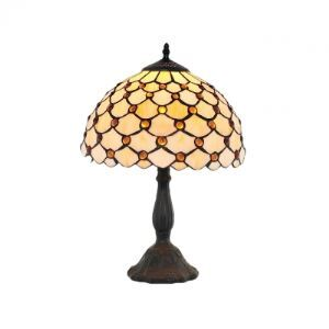 Fascinating Scale Pattern Beautiful Glass Shade Black Resin Tiffany Lamp