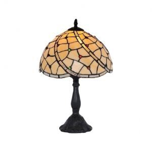 Fabulous Single Light Beautiful Pattern Glass Shaded Resin Tiffany Lamp
