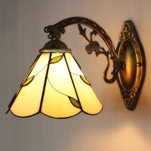 Up or Down 8 Inch Traditional Style Bronze Finshed One-light Tiffany Wall Sconce