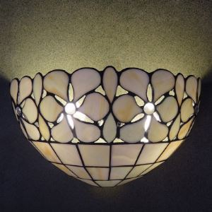 12 Inch Two-light Tiffany Wall Washer in Hand-made Shell Material