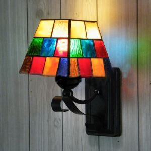 Morocco Colorful Pattern Stained Glass Tiffany 1-light Wall Lamp