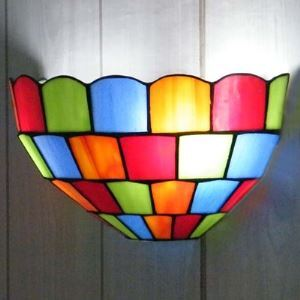 Smart Colorful 10 Inch Wall Washer in Tiffany Stained Glass Style