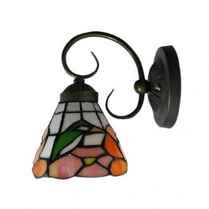 Fashion One Light Wall Sconce in Art Stained Glass Tiffany Style