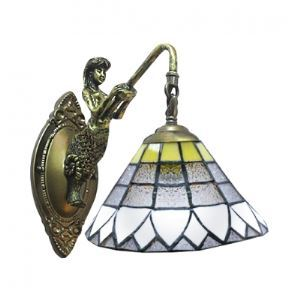 8 Inches Width Vintage Tiffany Wall Sconce with One Light