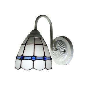 Mediterranean Style Art Glass Tiffany Wall Sconce with One Light