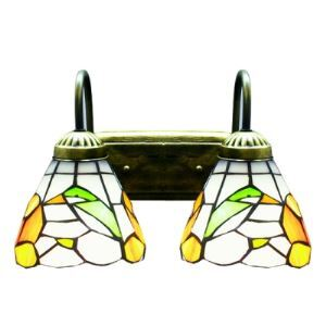 Two Light Wall Sconce 5.5 Inches Width Tiffany Designed Style