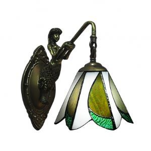 7 Inches Width One Light Mermaid Base Tiffany Wall Sconce