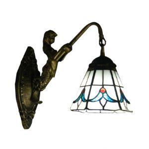 Tulip Theme Tiffany Glass Shade Down Lighting Mermaid Wall Sconce