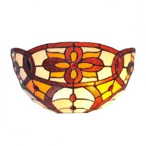 Hand-made Tiffany Glass Shade Charming Single Light Hallway Wallwasher