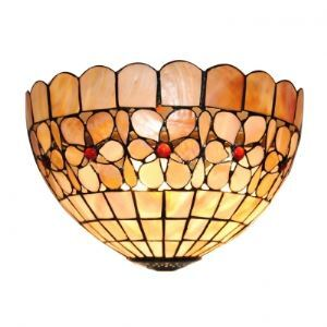 Compelling Euro Design Twelve Inch Flower-studded Hand-crafted Tiffany Wall Washer