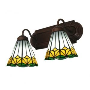 Refreshing Tiffany Two Lights Bathroom Lighting Feature Art Glass Shades