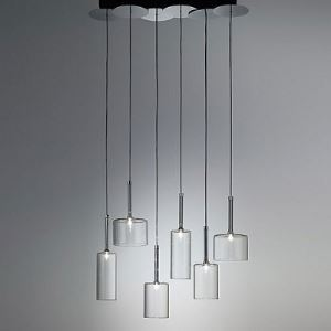 Six Lights Wonderful and Stunning Glass Designer Multi-Light Pendant Light