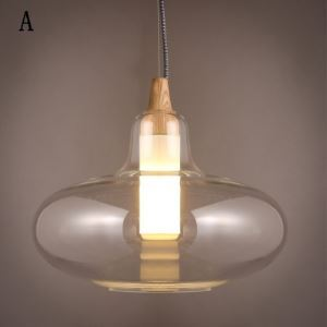 Three Sizes Clear  Glass Modern Concise Pendant Light