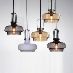 Industrial Style Colored LOFT Glass Pendant Light