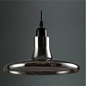 Disc Shape Dark Grey/White Industry LOFT Glass Pendant