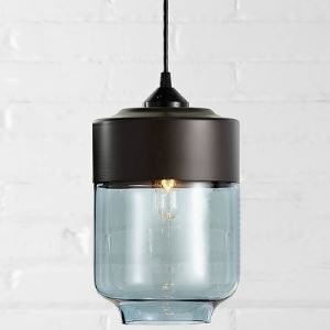 Mini  Black Socket Industrial LOFT Colored Pendant Light