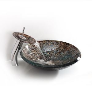 Modern Luxurious Round Tempered Glass Sink (Faucet Not Included)