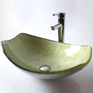 Modern Fashion Creative Vessel Tempered Glass Sink (Faucet Not Included)