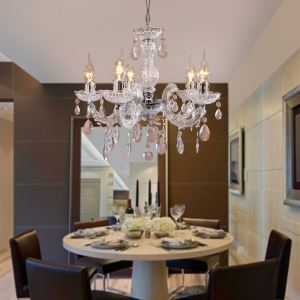 Mini Acrylic Chandelier Modern 5 Lights Ceiling Lights