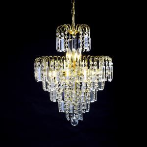 (In Stock)European-Style Luxury 4 Lights Chandelier In Crown Shape