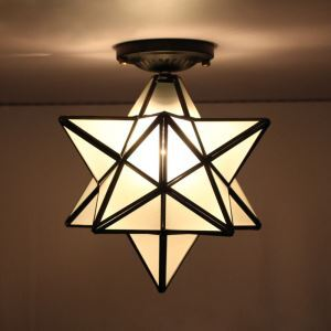Flush Mount LED Vintage Living Room  Bedroom  Dining Room  Kitchen  Bathroom  Study Room  Office  Kids Room Glass